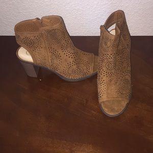 Cognac Heeled Sandals